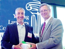 Judge Burnette with award winner Bob Byrne (2010)
