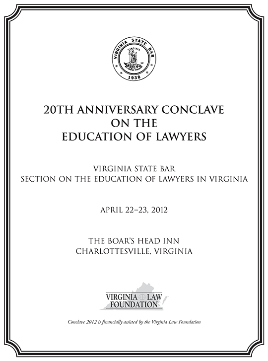 20th Anniversary Conclave Binder Cover