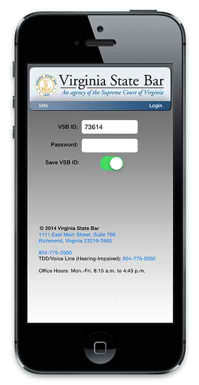 Virginia State Bar Mobile App