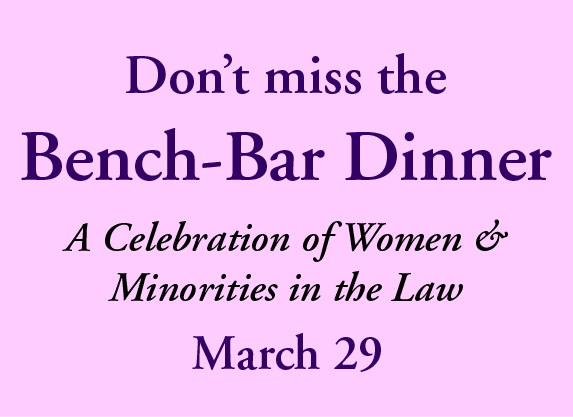 Join members the YLC as they honor the new elected and elevated female and minority judges in the Commonwealth.