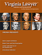 Virginia Lawyer Magazine Cover Art