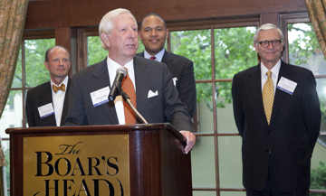 William R. Rakes, of Gentry Locke Rakes & Moore, in Roanoke, the first recipient of the William R. Rakes Leadership in Education Award